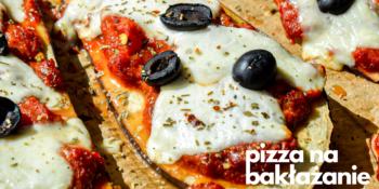 Pizza na spodzie z bakłażana